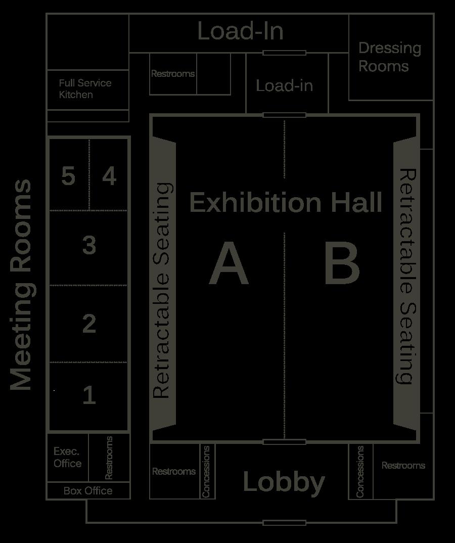 Houma Terrebonne Civic Center Floor Plan And Room Specs
